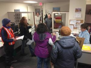 Protesters visit Rhode Island Department of Health; demand meeting with director, Dr. Michael Fine.